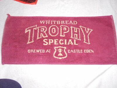 WHITBREAD TROPHY SPECIAL vintage BAR TOWEL mat runner brewed at Castle Eden L46