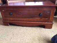 Cherry wood TV unit