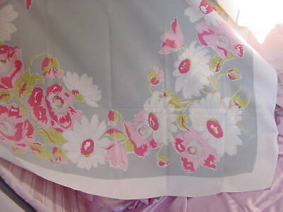 VINTAGE 1940s - 1950s ERA TABLE LINEN MID CENTURY KITCHEN TABLE CLOTH COVER