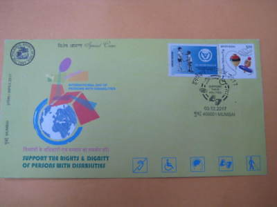 2017 India Special Cover on International Day of Persons with Disabilities