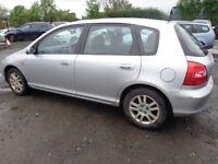 2002 52 reg honda civic se executive mot for 1 year ex we car £750