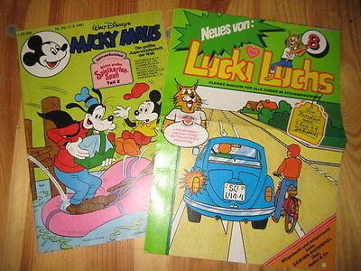 Micky Maus 33/1981 Mit Lucki Luchs Beilage - TOP