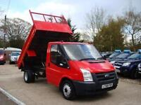 2008 FORD TRANSIT 2.4 TDCI SINGLE CAB MWB TIPPER NO VAT