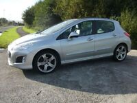 PEUGEOT 308 1.6 E-HDI ALLURE 5d 112 BHP (silver) 2012