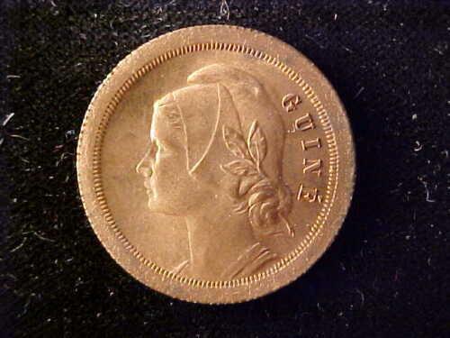 PORTUGUESE GUINEA 20 CENTAVOS 1933 FULL RED BU