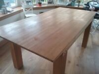 Dining room table solid oak
