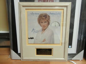 Beautiful custom framed autographed LP from Anne Murray