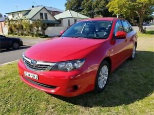 2009 Subaru Impreza MY09 R (AWD) Red 5 Speed Manual Sedan Broadmeadow Newcastle Area Preview