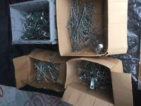 Large quantity of Slatwall hooks various sizes!!