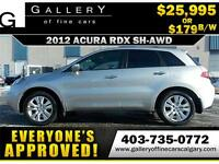2012 Acura RDX w/Technology Package AWD $179 bi-weekly APPLY NOW