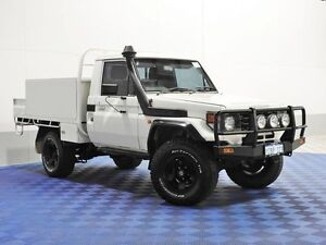 2003 Toyota Landcruiser HDJ79R (4x4) White 5 Speed Manual 4x4 Cab Chassis Jandakot Cockburn Area Preview