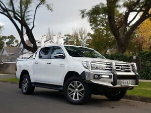 2015 Toyota Hilux GUN126R SR5 Double Cab White 6 Speed Manual Utility
