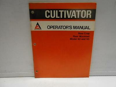 Used Allis-chalmers Cultivator Manual Row Crop Rear Mount 9395 Manual -19f5