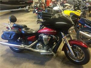 2008 Yamaha V-Star 1300 with fairing, 35,000km, $4999