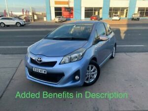 2012 Toyota Yaris NCP131R ZR Light Blue 5 Speed Manual Hatchback Fyshwick South Canberra Preview