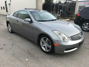 2005 INFINITI G35 Coupe No accident, LOW KM Only 112000km.