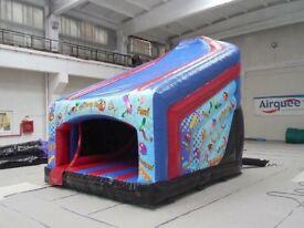 Curved Slide 10ft Platform Bouncy Castle