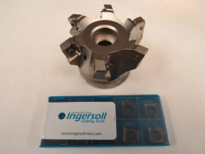 New - Ingersoll - 3 Face Mill  5m6p-3r01  10 Pcs Sdms130515r Insert