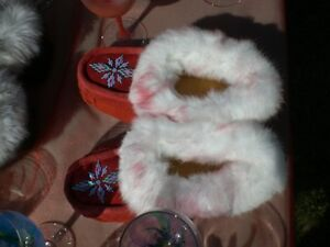 Hand Made Leather Moccasin Slippers