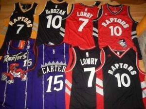 ** NEW - RAPTORS BASKETBALL - LOWRY, DEROZAN - CARTER JERSEYS