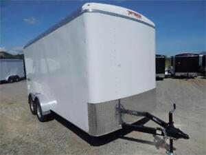 NEW SIDE X SIDE UTV 7X16 TANDEM ENCLOSED CARGO TRAILER