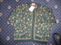 HOLMEWOOD Vintage 90s green floral mohair mix cardigan - BNWT