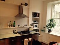 Sunny, spacious + stylish 2-bed in Leith - fully furnished
