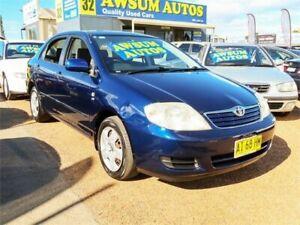 2005 Toyota Corolla ZZE122R 5Y Ascent Metallic Blue Automatic Sedan Minchinbury Blacktown Area Preview