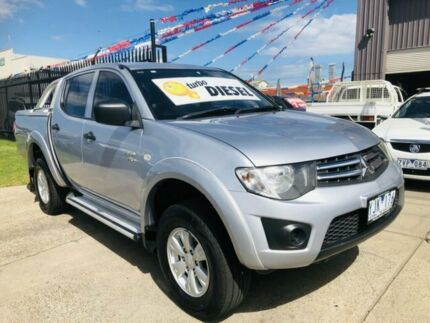 2011 Mitsubishi Triton MN MY11 GL-R (4x4) Silver 4 Speed Automatic Double Cab Utility Brooklyn Brimbank Area Preview