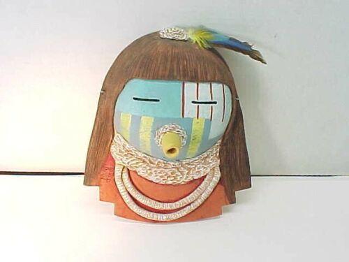 Fabulous DAVID JOHN Signed Hopi Clay Kachina Mask