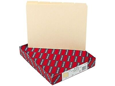 Smead 50156 Recycled Tab File Guides Blank 15 Tab Manila Letter 100box