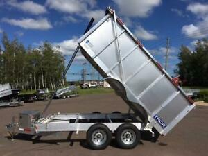 NEW 2019 THOR 6' x 12' HIGH SIDE ALUMINUM DUMP TRAILER