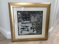 Picture with gold frame 'Asian Visions II'