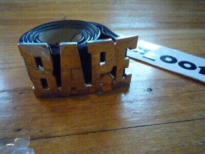 A Bathing Ape Bape Leather Belt Size XL 40-42 Black Camo Used Vintage B