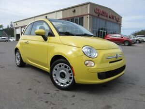 2012 Fiat 500 POP CONVERTIBLE, A/C, 5 SPD, 58K!