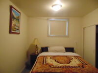 Furnished bedroom basement available - Chambre a Louer