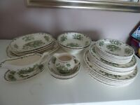 Mason's Fruit Basket Dinner Service, 6 small plates, 6 medium and six large