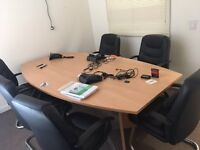 Boardroom / Meeting Room Table - Excellent condition rarely used - £100 FOR QUICK SALE