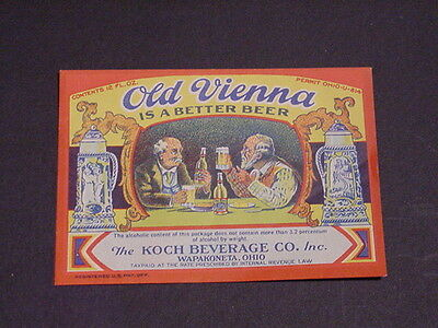 OLD VIENNA BEER IRTP Label - Wapakoneta, OH - Unused  - U Permit