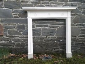 Original Antique Pine Fire Surround from bedroom of large Georgian house. Painted White