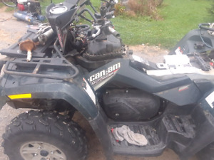 Brp vtwin efi 500 out put outlander