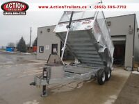 GALVANIZED 7 TON 7' X 12' HYDRAULIC DUMP TRAILER WITH 4' SIDES
