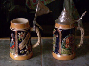W GERMAN STEINS 40S-60S VINTAGE CHINA WADE FIGURINES