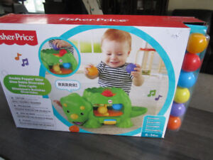 Fisher-Price Double Poppin' Dino, NEW in box -- $25.00