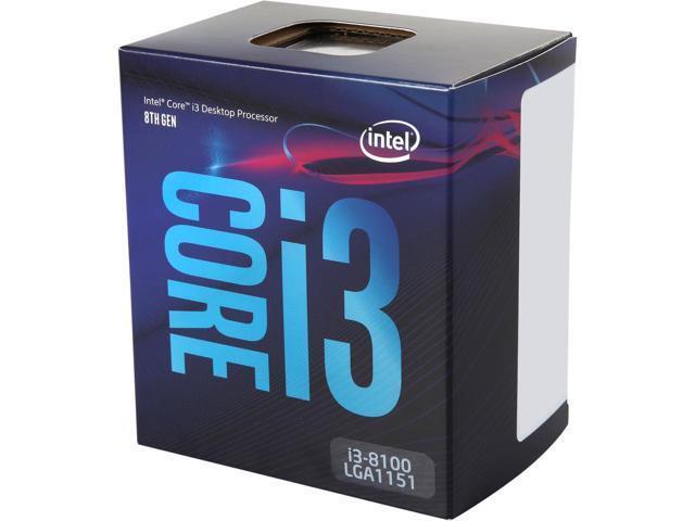 Intel Core i3-8100 Coffee Lake Quad-Core 3.6 GHz LGA 1151 (300 Series) 65W BX806