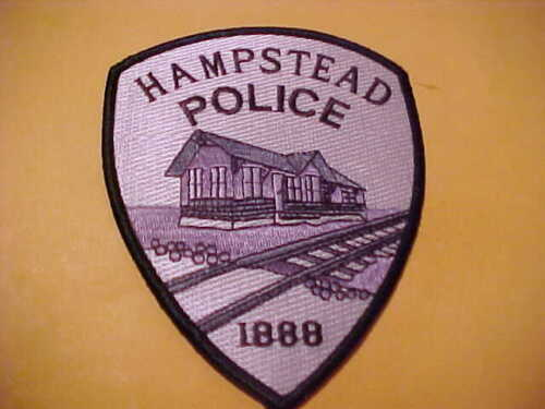 HAMPSTEAD MARYLAND POLICE PATCH SHOULDER SIZE UNUSED GREY