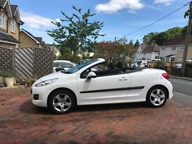 Immaculate 2011 1.6 white Peugeot 207cc sport convertible