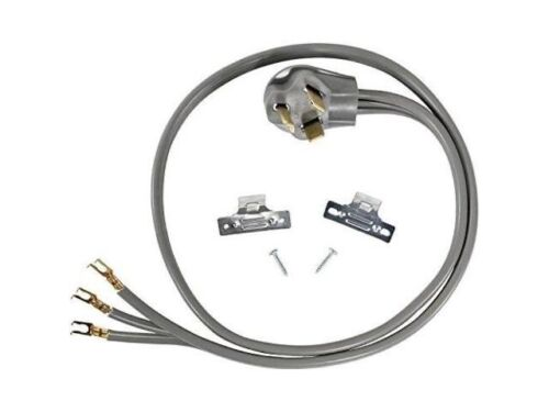 Universal 3 Prong Electric Dryer Power Cord / 5 Ft / 30 Amp