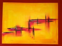 CONTEMPORARY LARGE CANVAS ART OIL PAINTING BRIGITTE COLOGNY