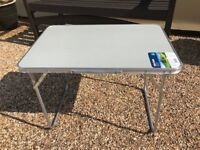Folding Camping Table 60 x 40cm With Carry Handle - New